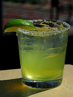 Salud! Tanteo margaritas for $5 at Elizabeth's Cinco de Mayo party.