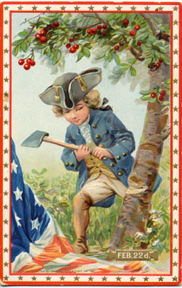 Little George and the cherry tree
