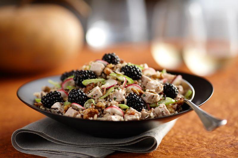 Berry beautiful blackberry turkey salad