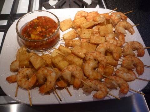Teriyaki shrimp & fresh pineapple