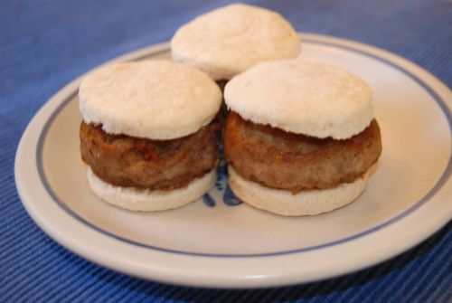 Sausage biscuits for r breakfast