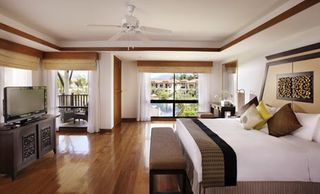 Master bedroom in 2BR villa at Outrigger Laguna Phuket Resort