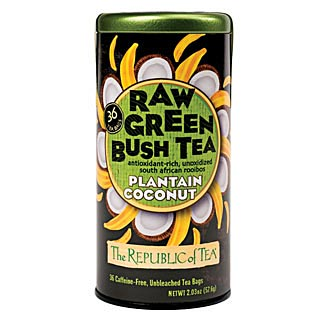 Raw Green Bush Tea Plantain Coconut
