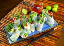Asparagus Spring Rolls -photo California Asparagus Commission