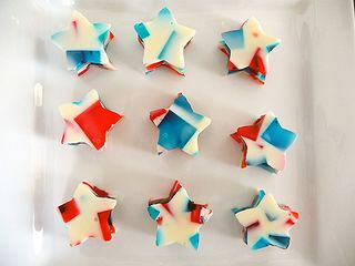 Stained glass jello stars!