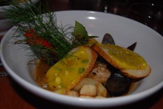St. Augustine bouillabaisse & aioli crouton